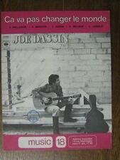 PARTITION MUSICALE FRANCE JOE DASSIN CA VA PAS CHANGER LE MONDE