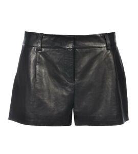 €616 Diane Von Furstenberg Naples Leather Shorts Size US 6 UK 10 S Small
