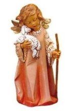 "Roman 3.5"" Angel With Lamb & Staff Figure Fontanini (43697)"