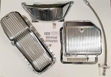 GM Turbo 350 Polished Aluminum Flywheel Dust Cover & Transmission Pan Oil Pan