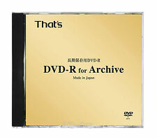 1 Taiyo Yuden DVD-R for Archive 4.7GB 1-8x Speed 30 Years Archival Grade DVD