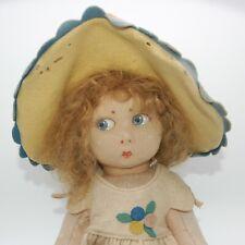 Antique/Vintage Lenci Felt Girl - Very Beautiful Old Doll