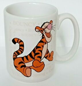 Disney Tigger large Bouncy Definition white and Orange collectible mug cup