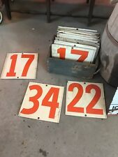 vintage double sided gas station pricing numbers, gulf, sinclair,shell