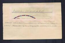 NELLIE WALLACE - AUTOGRAPH signed ALEXANDER GARDENS Weymouth September 1934