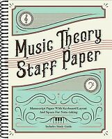Music Theory Staff Paper : Manuscript Paper With Keyboard Layout and Space fo...