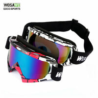 Snow Googles Windproof UV400 Motorcycle Ski Snowmobile Goggles Eyewear Glasses