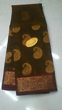 Golden Silk Saree GrandPallu Border Soft SilkSaree(New With Defect)MRP2900