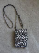 NWOT! Travelon Travel Document ID Organizer Bag Purse Crossbody Leopard Print