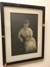 Antique Framed Historical Photo ID'd Theresa E. Johns (Witherstine) Early 1900s