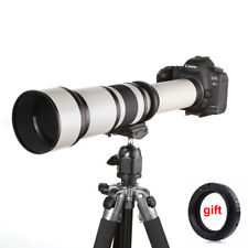650-1300mm F8.0-16 Super Telephoto Zoom Lens for DSLR Canon Nikon Sony NEX M4/3
