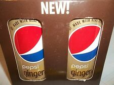 NEW MINI PEPSI COLA 222 ml  MADE REAL GINGER 2 TRIAL SIZED CANS IN ORIGINAL BOX