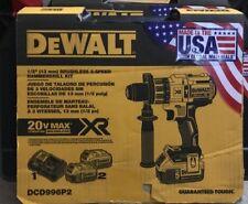 """Dewalt DCD996P2 20-Volt Max Lithium Ion XR Brushless 3-Speed 1/2"""" Hammer Drill"""