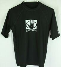 Body Glove Lycra Rash Guard L Uvp 50 Black Logo Short Sleeve 13210 D