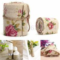 3M Wedding Craft Jute Burlap Hessian Ribbon Floral Fabric Vintage Trimming Decor