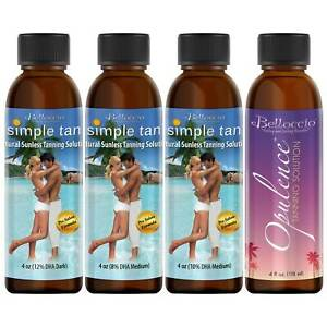 Belloccio Sunless Tanning Solution Variety Pack, Simple Tan & Opulence, 4oz each