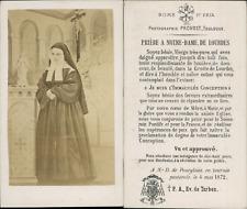 Provost, Toulouse, Bernadette Soubirous en tenue de religieuse, Lourdes, 1872 CD