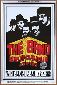 The Band Sons of Champlin Ace of Cups Winterland 1969 Concert Poster P4