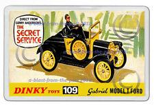 DINKY TOYS 109 GABRIEL MODEL T FORD ARTWORK NEW JUMBO FRIDGE LOCKER MAGNET