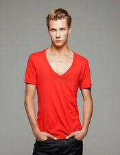 Kurzarm Herren-T-Shirts mit tiefem V-Ausschnitt in Größe M