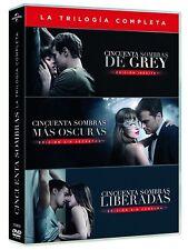 CINCUENTA SOMBRAS DE GREY TRILOGIA DVD NUEVO ( SIN ABRIR ) OSCURAS LIBERADAS