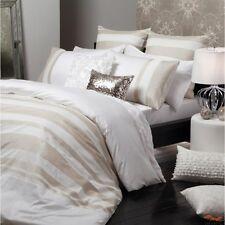 New LOGAN & MASON LYNDON CHAMPAGNE 400TC 100% Cotton KING Quilt Doona Cover Set