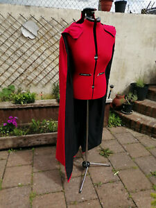 Thor style cloak. red with black lining ..new design.