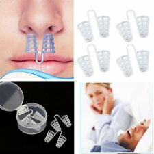 4pcs Stop Snoring Sleeping Aid Equipment Mini Transparent Anti-Snoring Device LN