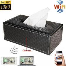 WIFI 1080P HD Spy Hidden Camera Tissue Box Video Recorder Wireless IP Nanny Cam