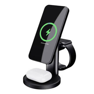 20W Qi Wireless Charger Fast Charging Station For Apple Watch Air Pods iPhone 12