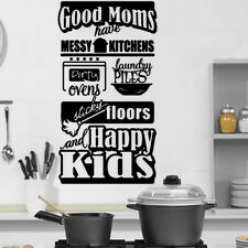 Kitchen Good Mom Rules Quote Wall Stickers Art Dining Room Removable Decals DIY