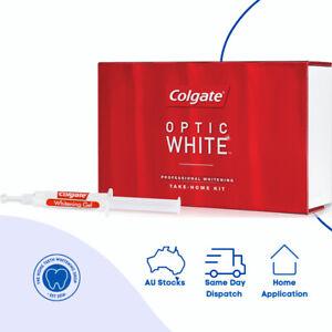 4x 3.11g Syringes, COLGATE Optic White 6% HP Teeth Whitening Gel Kit + Tray Case