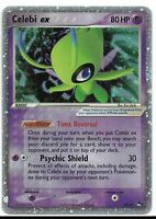 Celebi ex ULTRA RARE 17/17 Pokemon TCG Pop Series 2 Holo Foil Holographic LP
