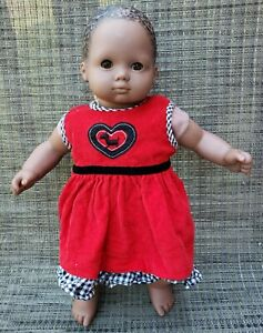 """American Girl Bitty Baby Doll 16 1/2"""" African American Pleasant Company Retired"""