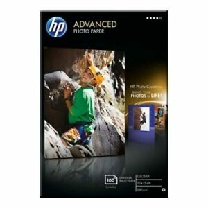 HP Advanced (10 x 15cm) Glossy Photo Paper Borderless (100 Sheets) 250gsm White