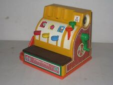 VINTAGE FISHER PRICE 1974 PRETEND PLAY MONEY CASH REGISTER Works Well Made inUSA