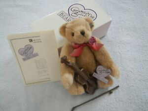 ANNETTE FUNICELLO - JOLLY - MUSICAL BEAR COLLECTION - WITH CELLO - LIMITED #521