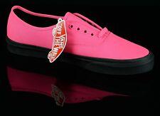 Vans Mens 721500 Low Skateboard Sneakers Size 12 Neon Pink Canvas Black Outsoles