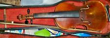 Old Antique circa 1850 4/4 Violin with bow and case GERMANY