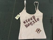 NWT Juicy Couture New & Genuine Ladies Small Pink Cotton Camisole & Juicy Logo