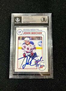 John Beecher Signed USA NTDP Team Issued 1st Ever Card Beckett Certified Bruins