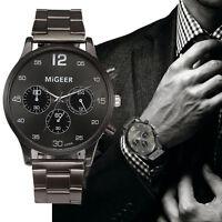 Fashion Men Business Watch Stainless Steel Analog Quartz Boy Sport Wrist Watches