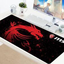 Mouse Pad Large XL Gamer Anti-slip Rubber Pad Mat MSI Logo Gaming Mousepad to...