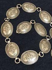"""Navajo Concho Silver Belt """"Coin Silver"""" 5.57 OZ   158 grams"""