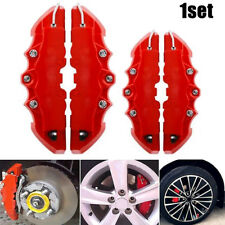 3D Red 4Pcs New Style Car Universal Disc Brake Caliper Covers ABS Front & Rear