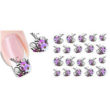 New Nail Art Sticker Water Transfer Stickers Flower Decals Tips Decoration 1pc