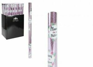 Mum in A Million Mothers Day Pink Dotty Wrapping Paper Gift Paper 1.5M X 70CM..