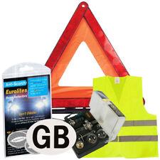 European Car Driving Travel Kit Emergency Warning Triangle EU France Abroad