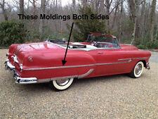 NOS PONTIAC PAIR 1953 REAR QUARTER MOLDINGS/SPEARS ALL 2-DOOR CARS