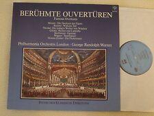 BERÜHMTE OUVERTÜREN - Mozart - Beethoven - Rossini - Strauss LP Saphir 1985 NM